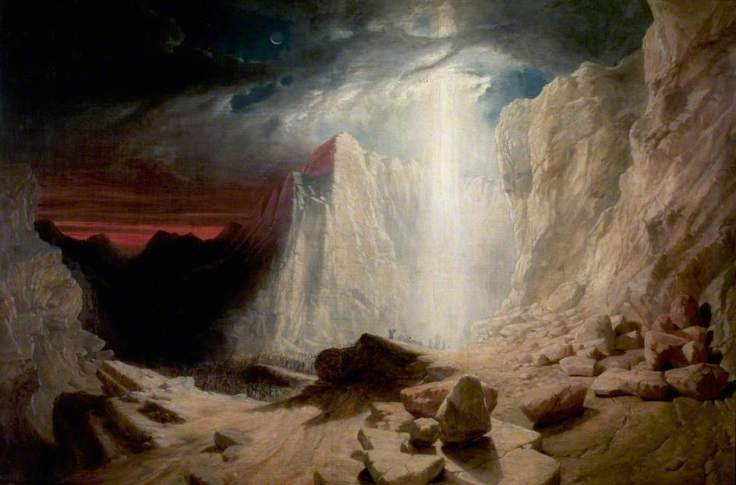 West, William, b.c.1793-1861; The Israelites Led by the Pillar of Fire by Night